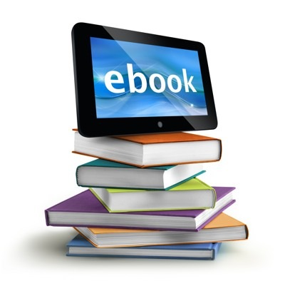stacked books with a tablet on top
